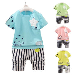 2017 Summer Children's Suit Baby Boy Newborn Baby Boy Girl Clothing Kids Suits - Deals Blast