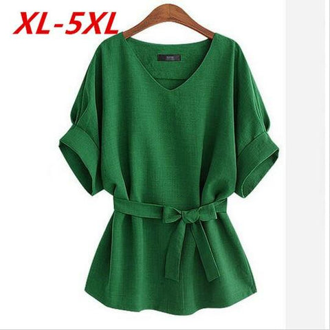 Summer Kimono Plus Size 5Xl Vintage Bat sleeve Women Blouses Loose Casual Ladies Shirt Tops