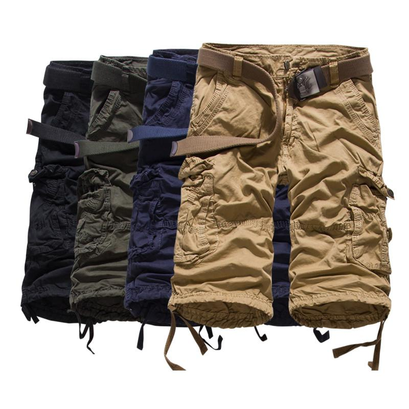 Summer fashion trend loose big code new British men's Cotton Shorts - DealsBlast.com