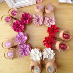 Girl Comfortable Flat Sandals Flower - Deals Blast