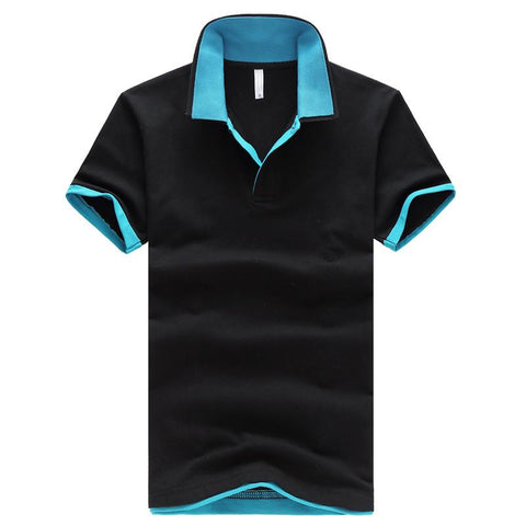 cotton short-sleeve polo turn-down collar summer men's clothing polo shirt slim plus size M-5XL