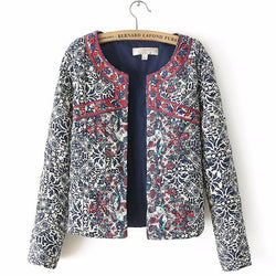 Women's Jacket With Embroidery - DealsBlast.com