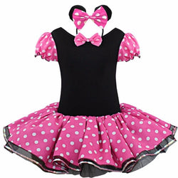 Summer Kids Dress Fancy Costume Ballet Tutu Dress+Ear Headband