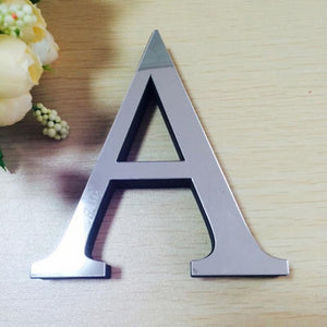 28 3D Letters Modern Mirror Type Art  Wall Sticker's - DealsBlast.com
