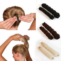 2Pcs Women Ladies Magic Style Hair Styling Tools Buns Braiders Curling Headwear Hair Rope Hair Band Accessories - Deals Blast