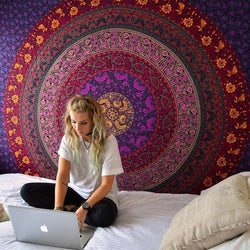Colorful Mandala Tapestry