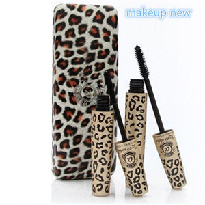 2pcs=1set Wild Leopard brand Mascara 3D FIBER LASHES Love Like Alpha Waterproof Transplanting Gel&Natural Make Up Cosmetics set - Deals Blast