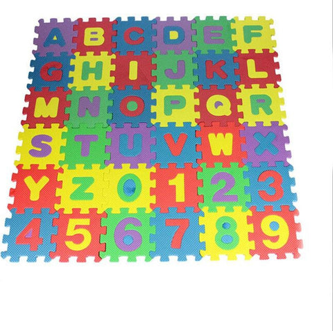 36pcs/set Unisex Mini Puzzle Kid Educational Alphabet Letters Numeral Foam Mat