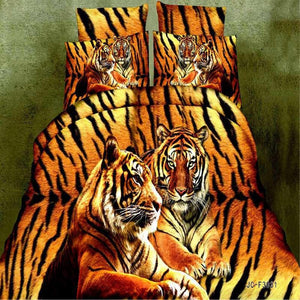 3D Animal Duvet Cover Tiger Bedding Sets Queen Size Bedsheet Double Bed Linen - Deals Blast