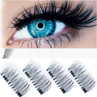 3D Double Magnetic Eyelashes Reusable Eye Lashes Extension 4PCS - Deals Blast