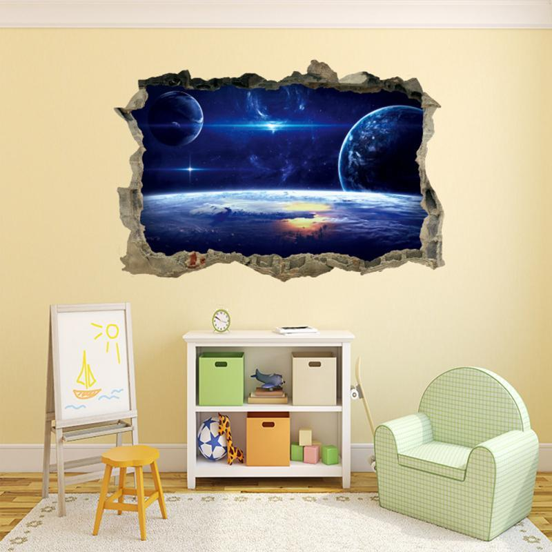 3D Wall Stickers Breaking Wall Star Home Decoration - DealsBlast.com