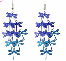 Boho Style Cute Party Earrings Blue and Colorful Dragonfly Bohemian Jewelry Dangle Long Earrings Female For Women 3 - Deals Blast
