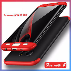 360 Full Body Galaxy Bumper Case Phone Cover For Samsung J3 J5 J7 2017 Note 8 S6 S7 edge S8 Plus - DealsBlast.com