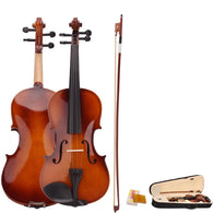 Natural Acoustic Violin Fiddle with Case Bow Rosin - DealsBlast.com