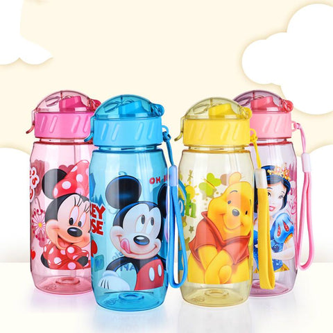 Cartoon School Water Bottles For Kids