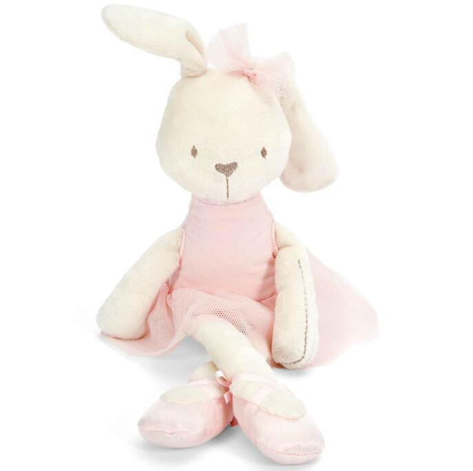 45cm Cute Rabbit with Pink Dress Baby Plush Toy Soft Ballet Bunny Rabbit Doll Kids Comfort Appease Doll Best Gift for Children - DealsBlast.com
