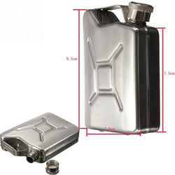 Jerry Can Hip Flask Stainless Steel Fuel Petrol Can Style Whisky Wine Liquor Can Petrol Gasoline Can Tanks - DealsBlast.com