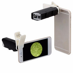 Lens for Phone 60X to 100X Zoom LED Microscope Magnifier Mobile Phone Lens Camera for iPhone Samsung Android - DealsBlast.com