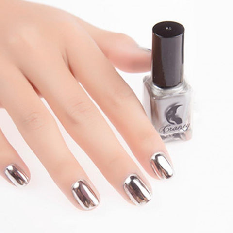 6ml Mirror Effect Chrome Metallic Silver Gold Nail Art Varnish Polish