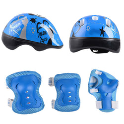 7pcs Panda Kids Helmet Elbow Wrist Knee Pads Sport Cycling