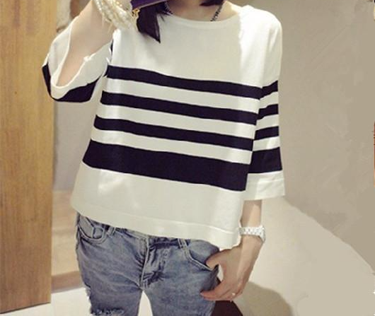 Women's Thin Style O-Neck Knitted Sweaters