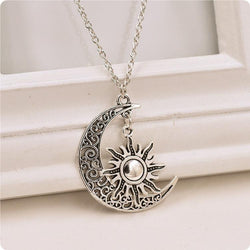 A Song of Ice and Fire sun and moon pendant necklace silver bronze Hot exquisite pentagram for women star jewelry fashion7 - Deals Blast