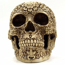 Skull Bone Skeletons Flower Ornament