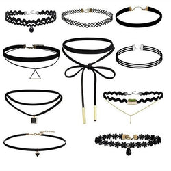 10 Pcs/lot Collar Jewelry Black Lace Chokers Necklaces for Women - Deals Blast