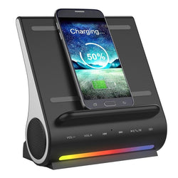 Bluetooth Speaker and Wireless Charging Station - DealsBlast.com