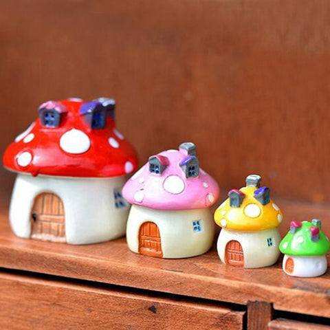 Artificial Mushroom Doll House Fairy Garden Miniatures Terrariums Resin Crafts Figurines For Home Decoration Random Color