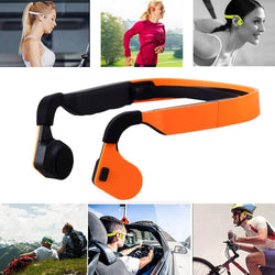 Bone Conduction Sports Bluetooth 4.0 Earphone Cell Phone Stereo Headphone Headset Mic Microphone Support Hands Free Call - Deals Blast