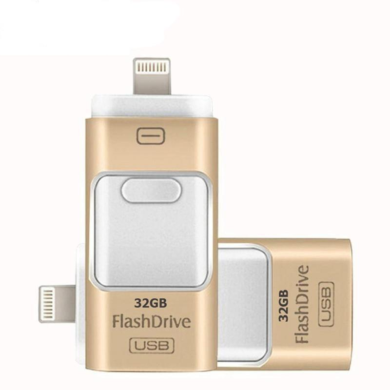iPhone Flash Drive For iPhone X 8 8Plus 7Plus 7 6s 6 Plus 6 SE 5 5S iPad OTG USB Memory Stick - DealsBlast.com