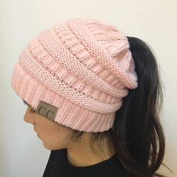 Women  Ponytail Beanie - DealsBlast.com