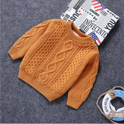 Baby Clothes O-Neck Warm Sweater Children Toddler Kids Pullovers plush velvet inside Winter - DealsBlast.com