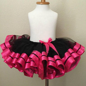 Baby Skirt Tutu Children Girl Tulle Chiffon Ribbon Fabric Photography Pettiskirt Cute kids Birthday Princess Party Tutu Clothing - Deals Blast