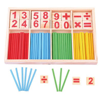 Baby Toys Counting Sticks Education Wooden Toys Building Intelligence Blocks Mathematical Wooden Box Child Gift - Deals Blast