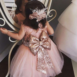 Baby & Young Girls Kids Wedding Flower Girl Dress Princess Party Pageant Formal Dress - DealsBlast.com