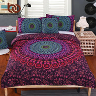 Bedding Set Queen Soft Bedclothes Twill Bohemian Print Duvet Cover Set - DealsBlast.com