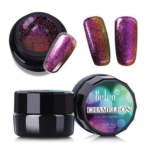 Nail Polish Chameleon UV Varnish Lacquer Bling Gels For Nails Acrylic Paint Polish Chameleon Color 3009 or Brush Pen