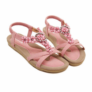 Fashion women sandals Skid Flower elegant  Summer sandals Shoes - Deals Blast