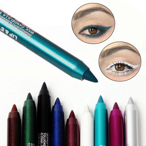 Women Eyes Makeup Tattoo Waterproof Pigment Color Eyeliner Pencils Gel Blue Purple White Eye Liner Pen - DealsBlast.com