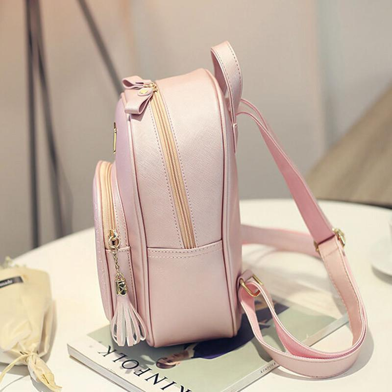 New Fashion Women Backpacks Women's PU Leather Backpacks Girl School Bag High Quality Ladies Bags Designer