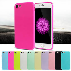 Candy Color Jelly Silicone Soft Plastic Case For iphone 6 6s 7 Plus 5s SE 7 8 Plus X - DealsBlast.com