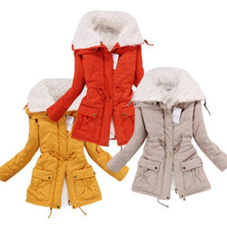 Women Warm Winter Overcoat Jacket Coat Outwear Parka S-XL - DealsBlast.com