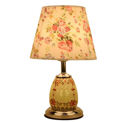 Ceramic Fabric Bedroom Beside Table lamp - DealsBlast.com