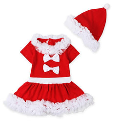 Kids Clothes Girl's Christmas Dress + Christmas hat - DealsBlast.com