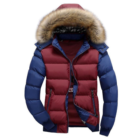 Clothes New Autumn Winter Mens Coat High Quality Heavy Hair Collar Male Cotton Coat Hat Detachable Fashion Outwear