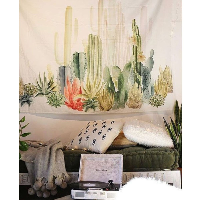 Cotton Cactus Wall Hanging Tapestry Bohemian Dorm Cover