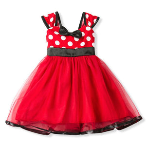 Cute Baby Girl Dress Polka Dot Summer Girls Clothes First Birthday Party Little Baby Boutique - Deals Blast