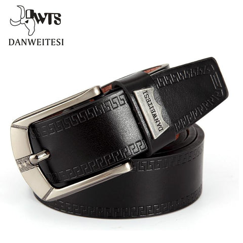 Fashion Men Belt Faux Leather Waistband Vintage Classic Pin Buckle Design Belts For Men